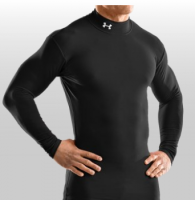 Under Armor Cold Gear Mock in Black